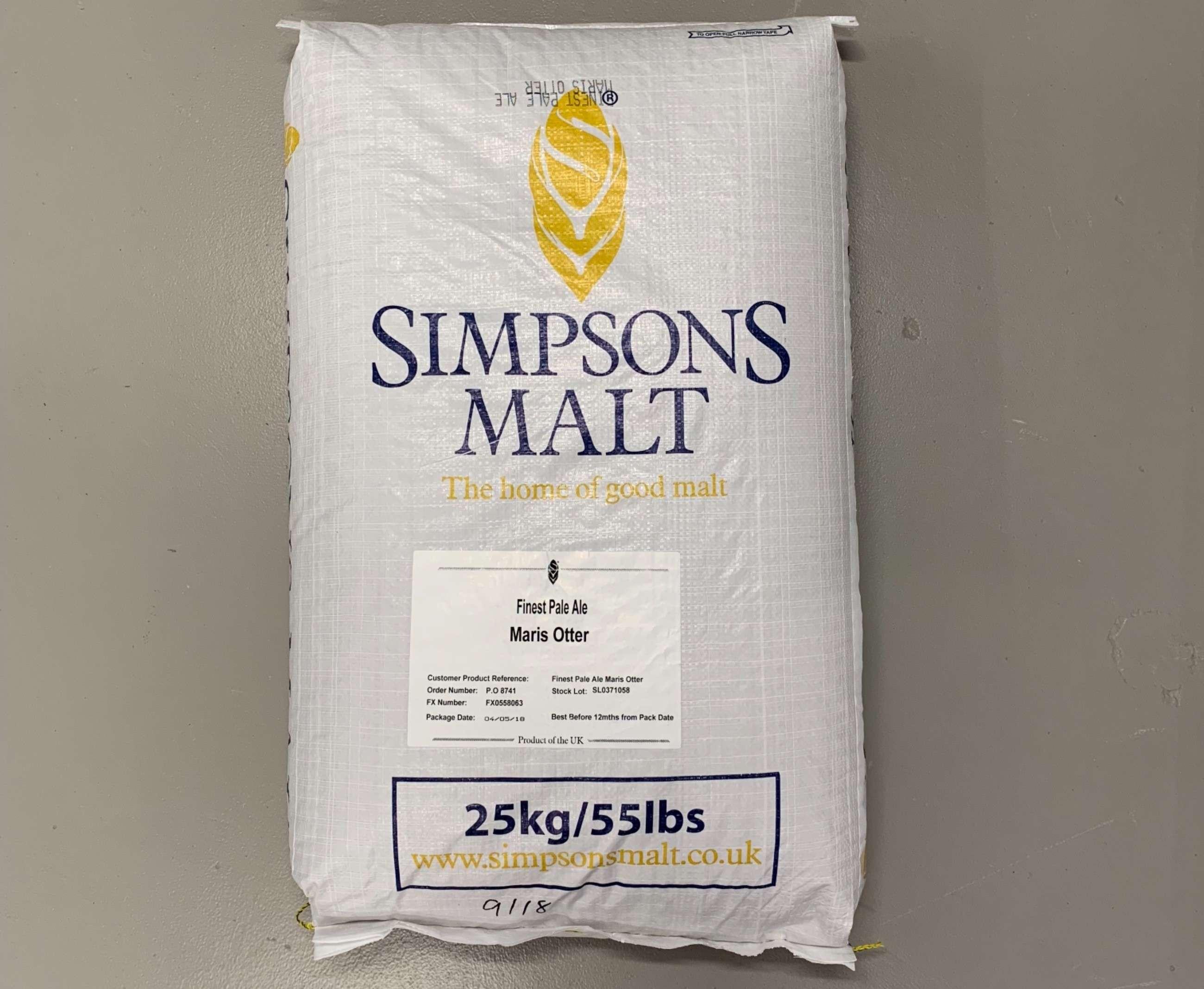 Crushed  Maris Otter Finest Barley Malt Grain  25kg